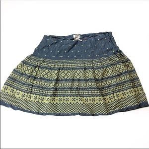 Max Studio Blue Yellow Embroidered Skirt Plus 20W
